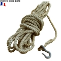 実物 フランス軍 フック付 ロープ【キャンペーン対象外】