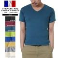 ☆20%OFF割引中☆【ネコポス便対応】新品 フランス軍タイプ Vネック半袖Tシャツ 8色