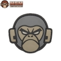 ☆20%OFF割引中☆【ネコポス便対応】MIL-SPEC MONKEY ミルスペックモンキー パッチ(ワッペン) Monkey Head PVC ACU-DARK