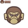 ☆今だけ20%OFF☆【ネコポス便対応】MIL-SPEC MONKEY ミルスペックモンキー パッチ(ワッペン) Monkey Head PVC DESERT