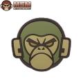 ☆まとめ割☆【ネコポス便対応】MIL-SPEC MONKEY ミルスペックモンキー パッチ(ワッペン) Monkey Head PVC FOREST