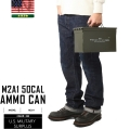 ☆ただいま20%割引中☆【即日出荷対応】実物 米軍 50 CAL AMMO CAN(アンモボックス)USED ホワイトステンシル 米軍放出品