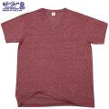 ☆ただいま15%割引中☆【ネコポス便対応】Velva Sheen ベルバシーン1PAC S/S MOCK TWIST VネックTシャツ BURGUNDY