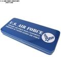 新品 U.S.AIR FORCE ミリタリー ブリキ ペンケース BLUE