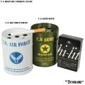 新品 U.S MILITARY ドラム缶灰皿 2色