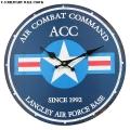 新品 U.S MILITARY ウォールクロック AIR COMBAT COMMAND