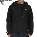新品 米軍 U.S.NAVY WET WEATHERパーカー BLACK□