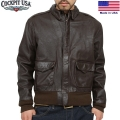 ☆15%OFFセール☆Cockpit USA コックピットWASHED A-2 HORSE HIDE フライトジャケット BROWN