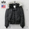 ALPHA アルファ MADE IN USA N-2B フライトジャケット BLACK【キャンペーン対象外】 ミリタリージャケット アルファインダストリーズ