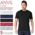 【メーカー取次】【ネコポス便対応】ANVIL アンビル 783 MIDWEIGHT 5.4oz S/S ポケット Tシャツ アメリカンフィット【キャンペーン対象外】