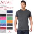 【メーカー取次】【ネコポス便対応】ANVIL アンビル 980 LIGHTWEIGHT 4.5oz S/S Tシャツ アメリカンフィット【キャンペーン対象外】