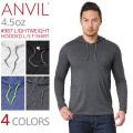 【メーカー取次】 ANVIL アンビル 987 LIGHTWEIGHT 4.5oz フード付き L/S Tシャツ アメリカンフィット【キャンペーン対象外】