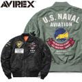 ☆まとめ割☆AVIREX アビレックス 6182132 LIGHT MA-1 フライトジャケット U.S.NAVAL AVIATION ミリタリージャケット