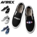 (キャンペーン対象外)AVIREX アビレックス AV3527 FREEDOM III ASYMMETRY スリッポンスニーカー アヴィレックス