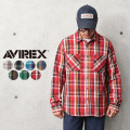 AVIREX アビレックス 6115129 デイリーウェア コットン チェック フランネルシャツ【キャンペーン対象外】【T】