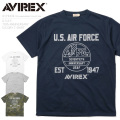 ☆15%OFFセール☆AVIREX アビレックス 6173434 U.S.A.F. 70th ANNIVERSARY S/S ドライTシャツ