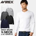 【即日出荷対応】AVIREX デイリーウエア 長袖 VネックTシャツ【6153480】 アヴィレックス【Sx】