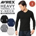 AVIREX アビレックス デイリー長袖 サーマル VネックTシャツ 6163462 アヴィレックス【Sx】