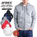 AVIREX アビレックス デイリーウェア 6153510 フルジップ スウェットパーカ