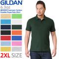 GILDAN ギルダン 83800 Premium Cotton 6.3oz アダルト ダブル ピケ ポロシャツ Japan Fit【Sx】