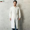 新品 復刻 ブルガリア軍 コットン サージカル コート オフホワイト ミリタリーファッション