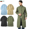 新品 復刻 ブルガリア軍 コットン サージカル コート 後染め ミリタリーファッション