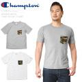 ☆ただいま20%割引中☆【ネコポス便対応】Champion チャンピオン C3-B369 REVERSE WEAVE カモフラージュ ポケットTシャツ