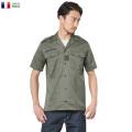 ☆まとめ割引対象☆実物 新品 フランス軍 HBT チャド 半袖シャツ オリーブ チャドシャツ