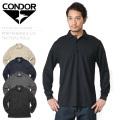 【キャンペーン対象外】CONDOR コンドル 101120 PERFORMANCE ロングスリーブ タクティカルポロシャツ