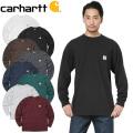 ★今だけ10%OFF特価★【即日出荷対応】Carhartt カーハート CRHTT-K126 L/S WORKWEAR ポケットTシャツ