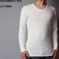 ☆ただいま20%割引中☆新品 東ドイツ軍UネックロングTシャツ ホワイト