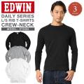 ☆ただいま20%割引中☆EDWIN エドウィン デイリーウェア ET5065 RIB クルーネックTシャツ 3色