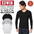 ☆サマーセール☆【即日出荷対応】EDWIN エドウィン デイリーウェア ET5068 ワッフル VネックTシャツ 3色【キャンペーン対象外】