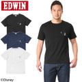 ☆サマークリアランスセール☆★キャンペーン対象外★EDWIN エドウィン ET5401 ミッキーマウス ワッペン ポケット Tシャツ