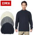 ☆まとめ割引対象☆EDWIN エドウィン ET5611 KNIT RIB STITCH ニット リブ ステッチ モックネック セーター