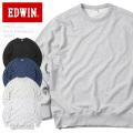 EDWIN エドウィン ET5620 ベーシック クルーネック スウェットシャツ トレーナー