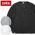 ☆15%OFF割引中☆EDWIN エドウィン ET5809 ミニワッフル Vネック 長袖 Tシャツ