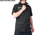 ☆20%OFFセール☆実物 新品 フランス軍エアフォース半袖ジャケットブラック
