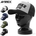 ☆まとめ割☆AVIREX アビレックス ロゴ刺繍 メッシュキャップ【GA14916500】 ミリタリー 帽子