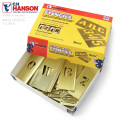 ★カートで15%OFF割引中★【即日出荷対応】C.H.HANSON C.H.ハンソン 真鍮製 ブラス ステンシルプレート【1/2インチ】46ピース 英数字セット