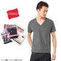 Hanes ヘインズ H3-F322 Vネック ポケットパックTシャツ★