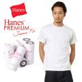 Hanes ヘインズ HM1-F001 PREMIUM JAPAN FIT クルーネック Tシャツ WHITE