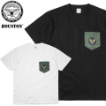☆今だけ25%割引中☆【ネコポス便対応】HOUSTON ヒューストン 21643 S/S USAF ポケット Tシャツ 半袖
