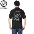 HOUSTON ヒューストン 40527 S/S ポケット付き EMBROIDERY スーベニアシャツ BLACK TIGER
