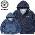 ☆15%OFFセール☆HOUSTON ヒューストン 50670 U.S.NAVY WET WEATHER パーカー DENIM