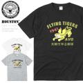 ☆今だけ25%割引中☆【ネコポス便対応】HOUSTON ヒューストン 21666 ミリタリー プリント Tシャツ AVG FLYING TIGERS(フライングタイガース)