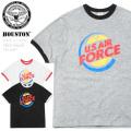 【ネコポス便対応】HOUSTON ヒューストン 21670 ミリタリー プリント Tシャツ PRINT RINGER USAF(プリント リンガー USAF) ファッション