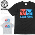 ☆今だけ25%割引中☆【ネコポス便対応】HOUSTON ヒューストン 21677 ミリタリー プリント Tシャツ U.S.AIR FORCE 半袖