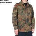 【即日出荷対応】実物 西ドイツ軍フレック迷彩ジャケット ミリタリーファッション 迷彩服 軍放出品