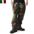 実物 イタリア軍ウォータープルーフ パンツ ウッドランド迷彩●
